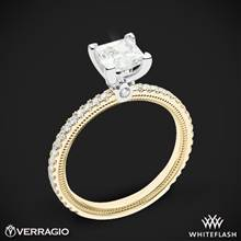 14k Yellow Gold with White Gold Head Verragio Tradition TR120P4 Diamond 4 Prong Engagement Ring | Whiteflash