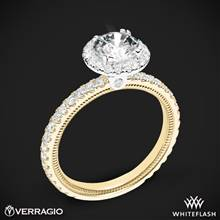 14k Yellow Gold with White Gold Head Verragio Tradition TR150HR Diamond Round Halo Engagement Ring | Whiteflash