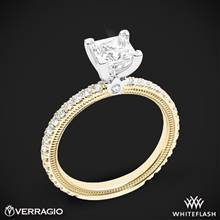 14k Yellow Gold with White Gold Head Verragio Tradition TR150P4 Diamond 4 Prong Engagement Ring | Whiteflash