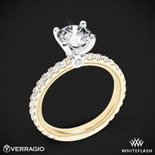 14k Yellow Gold with White Gold Head Verragio Tradition TR180R4 Diamond 4 Prong Engagement Ring | Whiteflash
