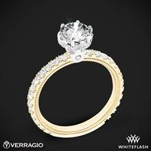 14k Yellow Gold with White Gold Head Verragio Tradition TR180TR Diamond 6 Prong Tiara Engagement Ring | Whiteflash