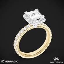 14k Yellow Gold with White Gold Head Verragio Tradition TR210HP Diamond Princess Halo Engagement Ring | Whiteflash