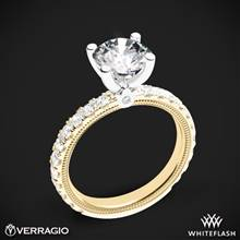 14k Yellow Gold with White Gold Head Verragio Tradition TR210R4 Diamond 4 Prong Engagement Ring | Whiteflash