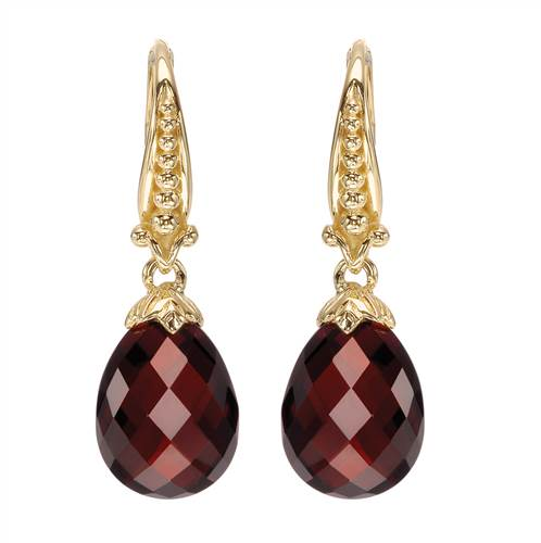 14kt Yellow Gold Garnet Drop Earrings with a total weight 14.50ct UNEG10886Y4JGN-IGCD