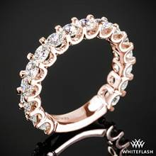 1.60ctw 18k Rose Gold Annette's U-Prong Three Quarter Eternity Diamond Wedding Ring | Whiteflash