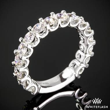 1.60ctw Platinum Annette's U-Prong Three Quarter Diamond Wedding Ring