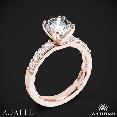 18k Rose Gold A. Jaffe ME1401Q Classics Diamond Engagement Ring