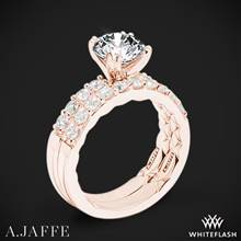 18k Rose Gold A. Jaffe ME1401Q Classics Diamond Wedding Set | Whiteflash