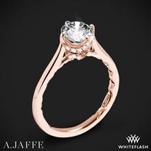 18k Rose Gold A. Jaffe ME1846Q Art Deco Solitaire Engagement Ring | Whiteflash