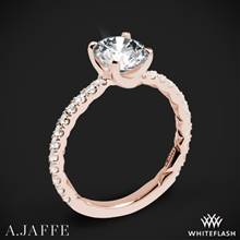 18k Rose Gold A. Jaffe ME1850Q Classics Diamond Engagement Ring | Whiteflash