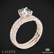 18k Rose Gold A. Jaffe ME1850Q Classics Diamond Wedding Set | Whiteflash