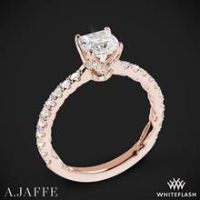 18k Rose Gold A. Jaffe ME1851Q Art Deco Diamond Engagement Ring | Whiteflash