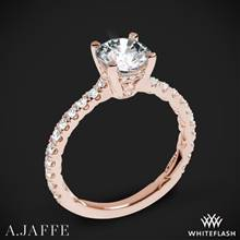 18k Rose Gold A. Jaffe ME1853Q Classics Diamond Engagement Ring | Whiteflash