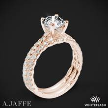 18k Rose Gold A. Jaffe ME1853Q Classics Diamond Wedding Set | Whiteflash