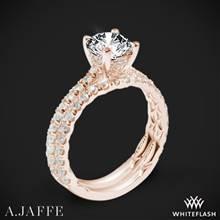 18k Rose Gold A. Jaffe ME1853Q Classics Diamond Wedding Set | Whiteflash