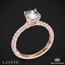 18k Rose Gold A. Jaffe ME1865Q Classics Diamond Engagement Ring | Whiteflash