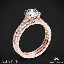 18k Rose Gold A. Jaffe ME2003QB Seasons of Love Diamond Wedding Set   Whiteflash