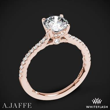 18k Rose Gold A. Jaffe ME2029Q Classics Diamond Engagement Ring