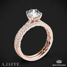 18k Rose Gold A. Jaffe ME2029Q Classics Diamond Wedding Set | Whiteflash