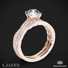 18k Rose Gold A. Jaffe ME2036Q Seasons of Love Diamond Wedding Set | Whiteflash