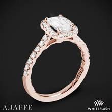 18k Rose Gold A. Jaffe ME2051Q Seasons of Love Halo Diamond Engagement Ring | Whiteflash