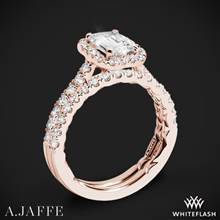 18k Rose Gold A. Jaffe ME2051Q Seasons of Love Halo Diamond Wedding Set | Whiteflash