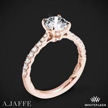 18k Rose Gold A. Jaffe ME2141Q Diamond Engagement Ring | Whiteflash