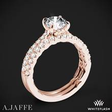 18k Rose Gold A. Jaffe ME2141Q Diamond Wedding Set | Whiteflash