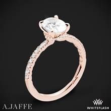 18k Rose Gold A. Jaffe ME2175Q Classics Diamond Engagement Ring | Whiteflash
