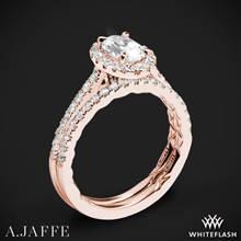 18k Rose Gold A. Jaffe ME2181Q Seasons of Love Halo Diamond Wedding Set | Whiteflash