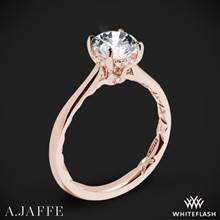 18k Rose Gold A. Jaffe ME2211Q Solitaire Engagement Ring | Whiteflash