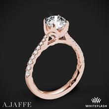 18k Rose Gold A. Jaffe ME2252Q  Diamond Engagement Ring | Whiteflash