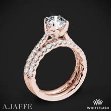 18k Rose Gold A. Jaffe ME2252Q Diamond Wedding Set | Whiteflash