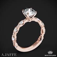 18k Rose Gold A. Jaffe ME2303Q Diamond Engagement Ring | Whiteflash
