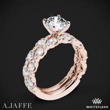 18k Rose Gold A. Jaffe ME2303Q Diamond Wedding Set | Whiteflash