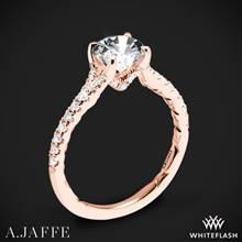 18k Rose Gold A. Jaffe ME3001QB Diamond Engagement Ring | Whiteflash