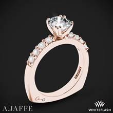 18k Rose Gold A. Jaffe MES078 Classics Diamond Engagement Ring | Whiteflash