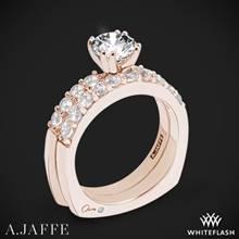 18k Rose Gold A. Jaffe MES078 Classics Diamond Wedding Set | Whiteflash