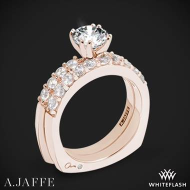 18k Rose Gold A. Jaffe MES078 Classics Diamond Wedding Set
