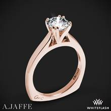 18k Rose Gold A. Jaffe MES166 Classics Solitaire Engagement Ring | Whiteflash