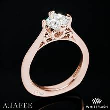 18k Rose Gold A. Jaffe MES438 Seasons of Love Solitaire Engagement Ring | Whiteflash