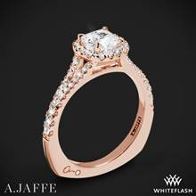 18k Rose Gold A. Jaffe MES576 Metropolitan Halo Diamond Engagement Ring | Whiteflash