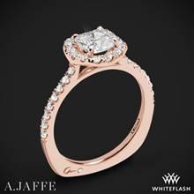 18k Rose Gold A. Jaffe MES577 Metropolitan Halo Diamond Engagement Ring | Whiteflash