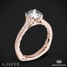 18k Rose Gold A. Jaffe MES738Q Art Deco Diamond Engagement Ring | Whiteflash