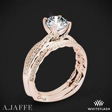 18k Rose Gold A. Jaffe MES740Q Seasons of Love Diamond Wedding Set | Whiteflash