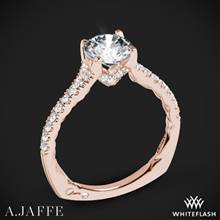 18k Rose Gold A. Jaffe MES742QB Classics Diamond Engagement Ring | Whiteflash