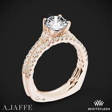 18k Rose Gold A. Jaffe MES742QB Classics Diamond Wedding Set | Whiteflash