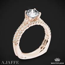 18k Rose Gold A. Jaffe MES742QB Classics Diamond Wedding Set | Whiteflash