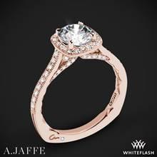 18k Rose Gold A. Jaffe MES754Q Seasons of Love Halo Diamond Engagement Ring   Whiteflash