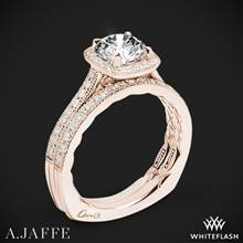 18k Rose Gold A. Jaffe MES754Q Seasons of Love Halo Diamond Wedding Set | Whiteflash